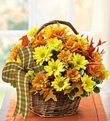 Rustic fall basket from Bixby Flower Basket in Bixby, Oklahoma