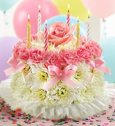 Flower Birthday Cake from Bixby Flower Basket in Bixby, Oklahoma