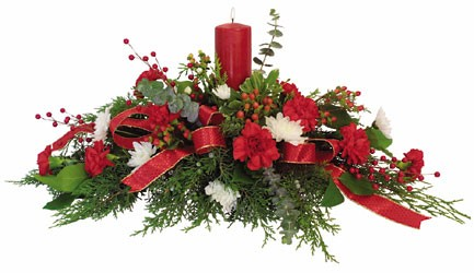 Holiday Centerpiece from Bixby Flower Basket in Bixby, Oklahoma