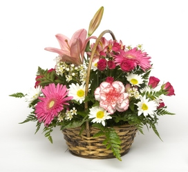 Perfectly Pink Basket from Bixby Flower Basket in Bixby, Oklahoma